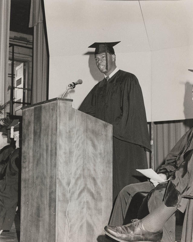 Ronald Lamont Horne Speaking at 1969 Baccalaureate Services