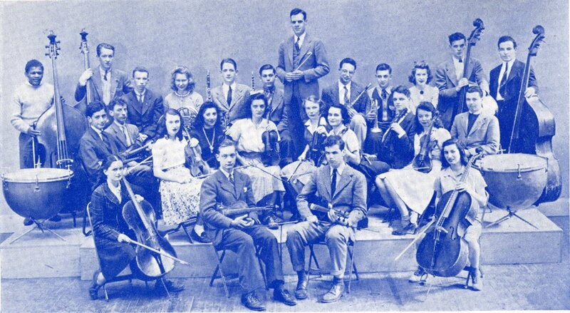 Newton High School Orchestra 1942