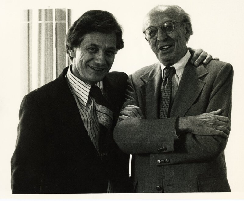 Stanger with Aaron Copland.