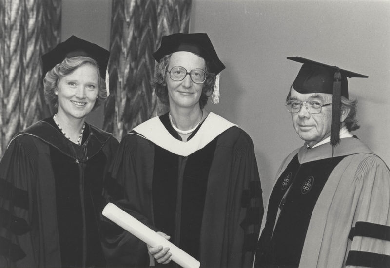 Dorothy Doumar, Thea Musgrave, President Rollins