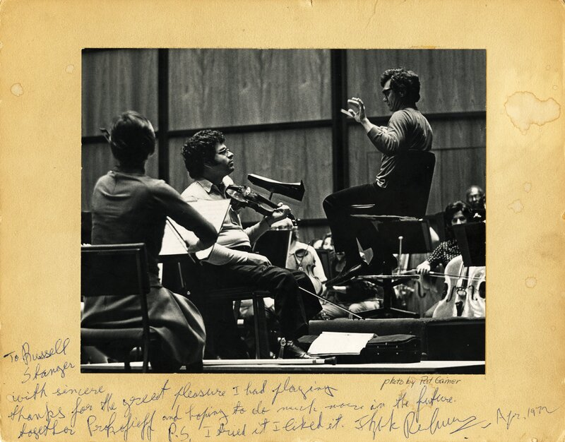Stanger with Itzhak Perlman.