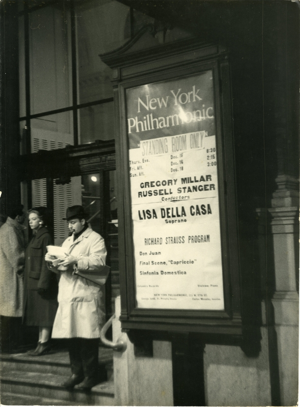 Stanger in New York, 1960-61.