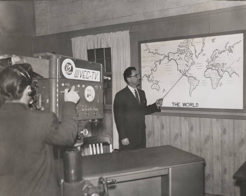 Stanley Pliska Conducts a Television Class
