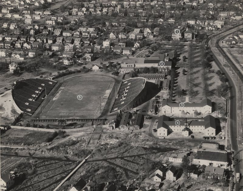 Campus View, Looking North, 1948