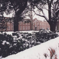 Spong Hall Surrounded By Snow