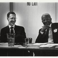 President Koch and Dr. Hugo A. Owens