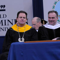 John R. Broderick with Gov. Kaine at Fall 2008 Commencement